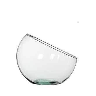 Coupe forme hemispherique en verre transparent boly h21xdiamètre 24cm