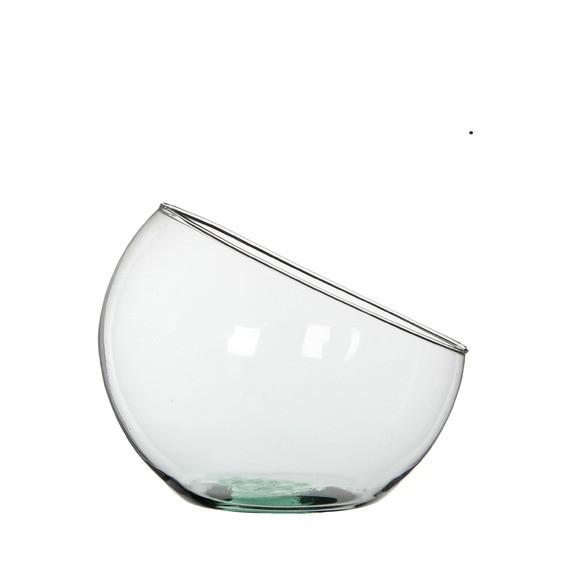 Coupe forme arc de cercle en verre H21x24cm