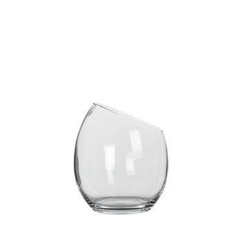 Vase en verre transparent kathi 20x18cm