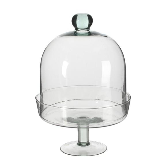 Cloche en verre transparente Diny H28,5cm Ø20cm