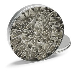 acquista online Set di 26 tagliapasta alfabeto in acciaio inox 2,5cm
