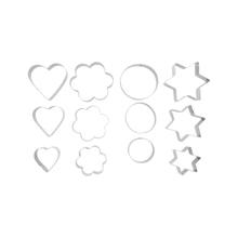 Achat en ligne Set de 12 emporte-pièces formes assorties en inox