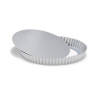 MAOM - Moule à tarte avec fond amovible revêtu en métal 30cm