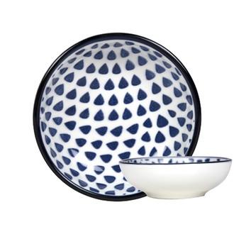 Coupelle en porcelaine Out of the blue drops D9cm