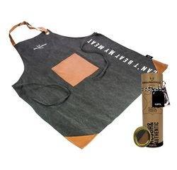 compra en línea Delantal de tela negra con bolsillo central (60 x 80 cm)