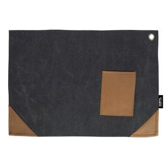 GUSTA - Napperon en toile noir  45x32cm