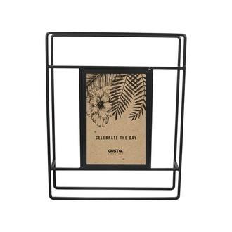 Cadre photo à poser 1 vue 10x15 métal noir