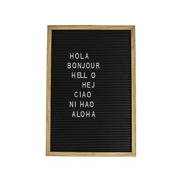 Achat en ligne Letterboard noir et bois 38x28cm
