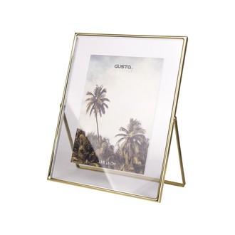 Cadre photo à poser entre 2 verres 20x25 doré