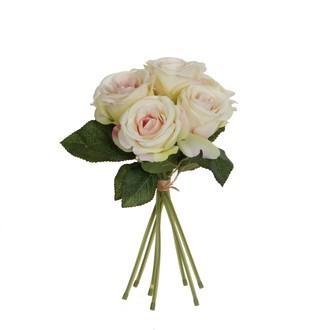 Bouquet de roses artificielles roses