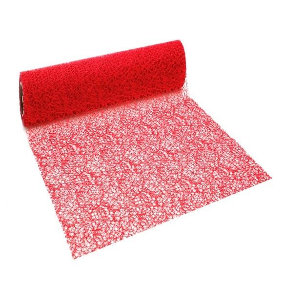 Achat en ligne Chemin de table crispy rouge 2,5x0,28cm