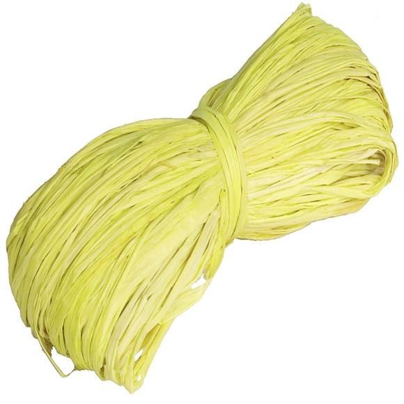 Pelote en 100% raphia jaune 25gr