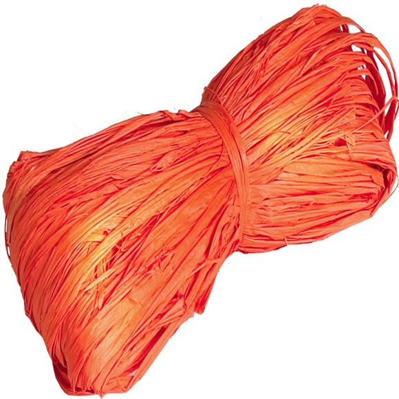 Achat en ligne Pelote en 100% raphia orange 25gr