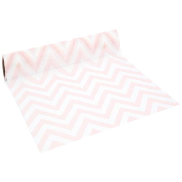 Achat en ligne Chemin de table imprimé chevron blush 0,28x2,5cm