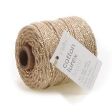 Achat en ligne Fil de coton lurex twist taupe 50mx2mm