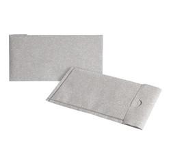 Achat en ligne Enveloppe cadeau papier paillette argent 11,7x23,2cm