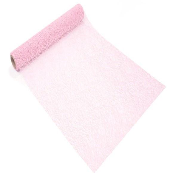 Achat en ligne Chemin de table crispy rose pale 0,28x2,5m