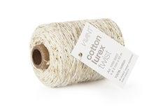 Achat en ligne Fil de coton lurex twist ivoire 50mx2mm