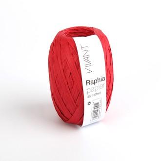 Raphia papier rouge 4,5x4cm