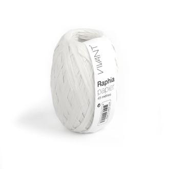 Raphia papier blanc 4,5x4cm