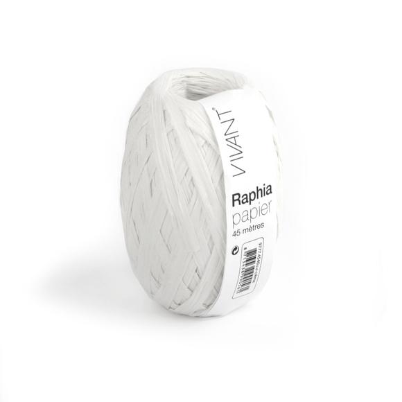 Achat en ligne Raphia papier blanc 4,5x4cm