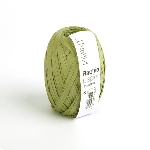 Achat en ligne Raphia papier vert mousse 4,5x4cm