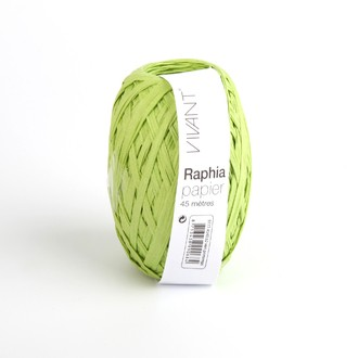 Raphia papier vert printemps 4,5x4cm