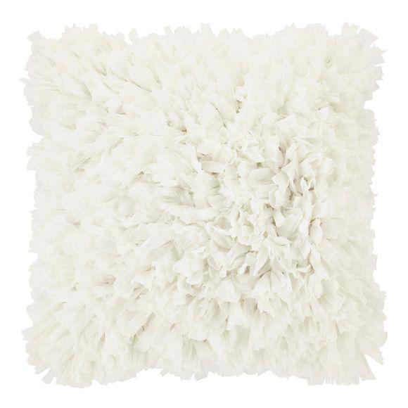 Coussin carré blanc Romano 45x45cm