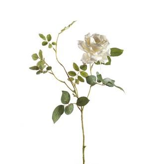 Tige de rose artificielle Diane couleur crème H75CM