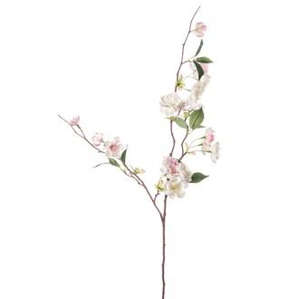 Branche artificielle de pêcher rose H80cm