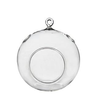 Vase rond à suspendre en verre h14xØ12cm