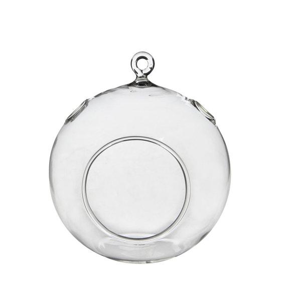 Achat en ligne Vase rond à suspendre en verre H14xØ12cm