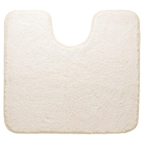 Tapis contour wc en microfibre beige 55x60cm