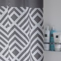 Rideau de douche gris angoli 180x200cm