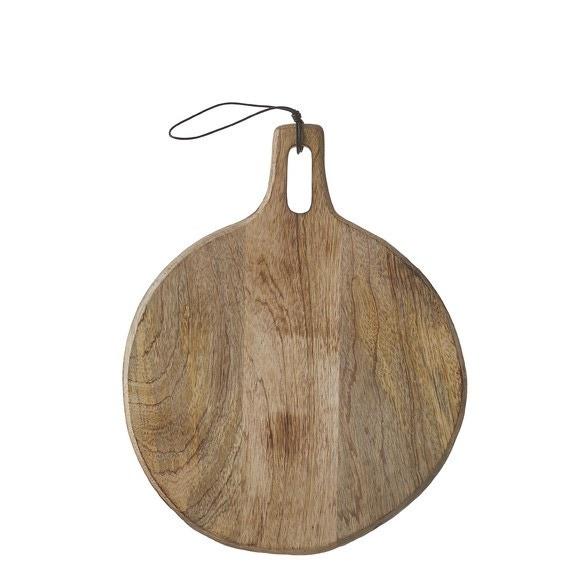 Achat en ligne Planche présentation ronde lien cuir 35cm