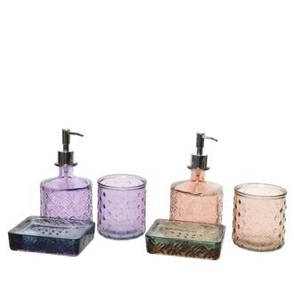 Set 3 accessoires de salle de bain 10x17.5cm
