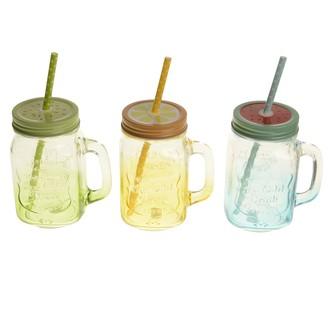 Assortiment de mug jar couleur été