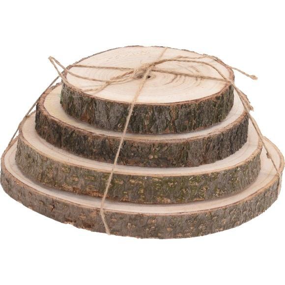 Set de 4 rondins de bois
