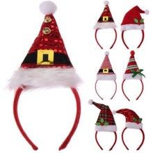 Achat en ligne Diadème bonnet de Noël 6 assortis