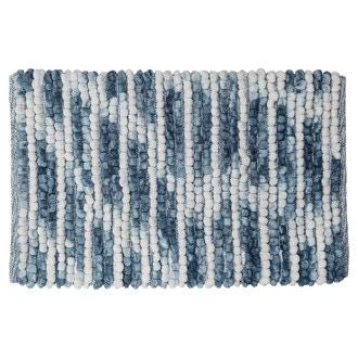 Tapis de bain en microfibre bleu Vintage 50x80cm