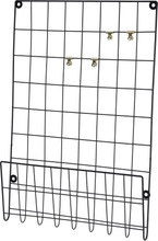 Achat en ligne Pêle-mêle filaire avec retour noir + 4 pinces or 40x6x60cm