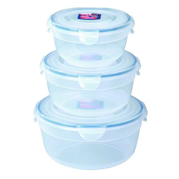 Lot de 3 boites de conservation empilables en plastique