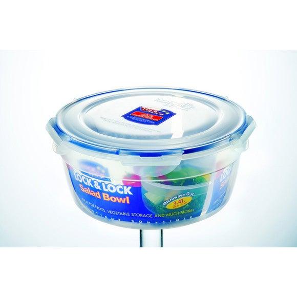 Garde salade rond en plastique avec plateau 3,4L