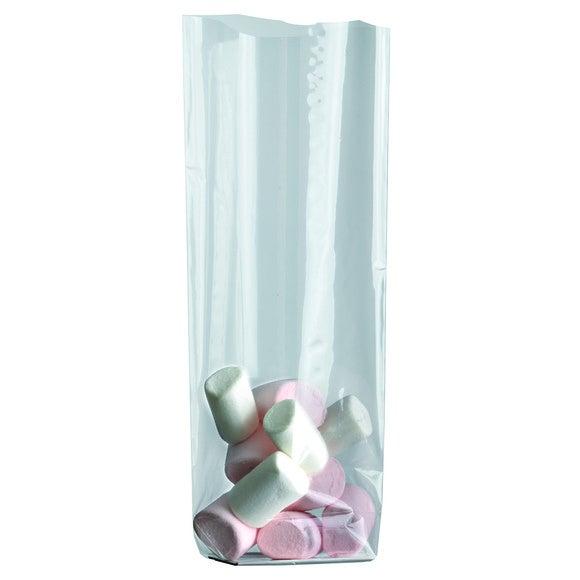 Set 100 sacchetti dolciumi con fondo argento 10x22cm