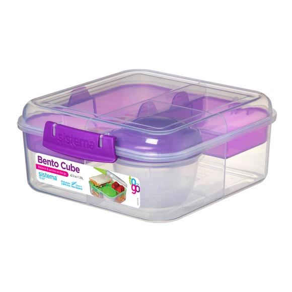 Boîte à repas Bento Cube To Go 1,25L 16,8x18,6x7,7cm