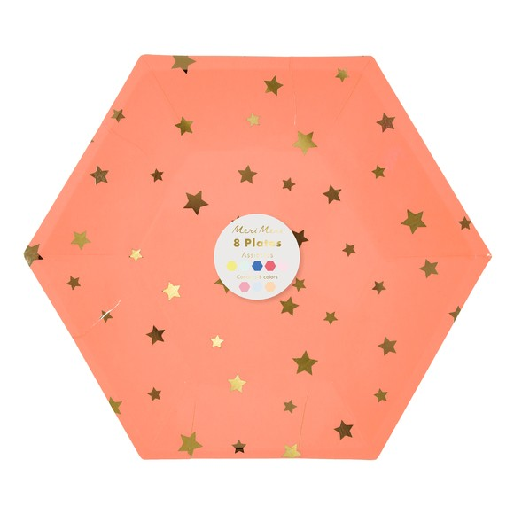 Achat en ligne Paquet 8 assiettes jetables carton imprimé étoiles Jazzy