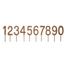 Achat en ligne Pics chiffres acrylique paillettes dorées