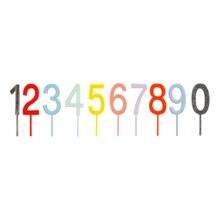 Achat en ligne Pics chiffres acrylique translucide couleur
