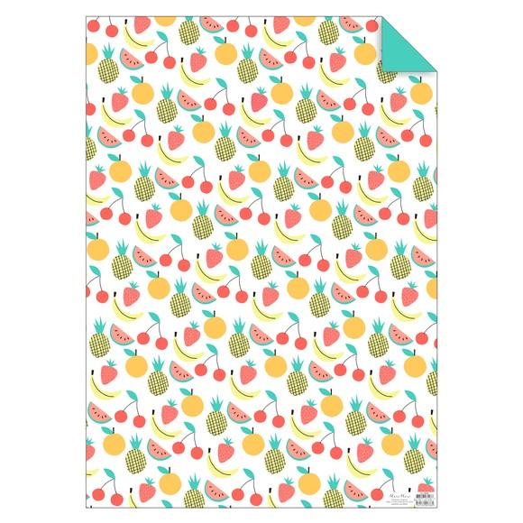 Feuille de papier Fruits 50x70cm