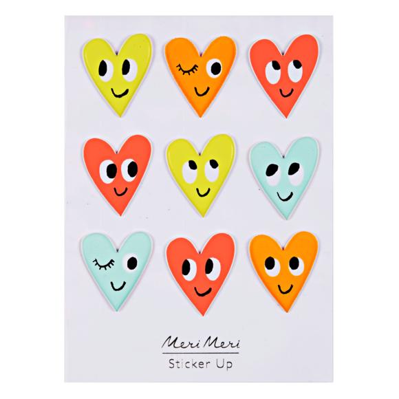 Achat en ligne Planche de stickers Cœurs en relief 95x113mm